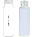 Picture of  Vial N18-20, SC, C, 22.5x75.5, Rounded 702826