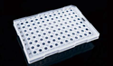 Picture of 0.2ml 96 Well PCR Plate, Semi Skirt, Clear, A12 Cut, Compatible with ABI Machine 402601
